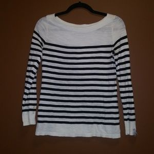 Striped all cotton black & white top, size S